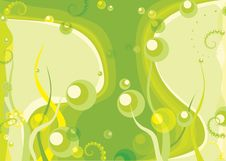 Free Green Bubbles And Grass Background Stock Images - 8668214