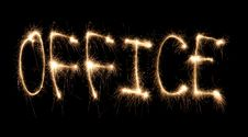 Free Word Office Written Sparkler Stock Photos - 8668233
