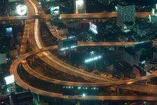 Free Night Lights In Bangkok Stock Images - 8668624