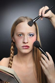 Free Before And After MAKE-UP Royalty Free Stock Images - 8668639
