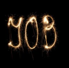Word Job Written Sparkler Stock Image