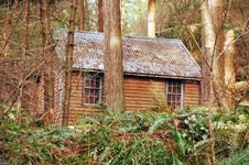 Cabin In Woods Stock Photography