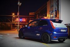 Free Fiesta ST At The Mall Royalty Free Stock Photos - 86686168