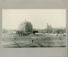 Free Baseball Game At The Old Campus Of Phillips Academy, 1889 Stock Photo - 86686190