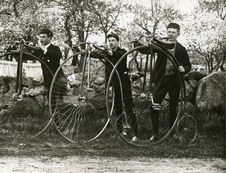 Free Phillips Academy Students Cycling, C. 1900 Royalty Free Stock Image - 86686306