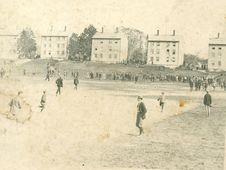 Free Baseball In Front Of The Latin Commons At Phillips Academy, 1899-1900 Royalty Free Stock Photography - 86686377
