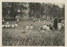 Free Softball Game At Abbot Academy, 1921 Stock Photography - 86686502