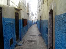 Free Ruelle Bleue, Kasbah Des Oudayas &x28;Rabat, Maroc&x29; Royalty Free Stock Photography - 86687077