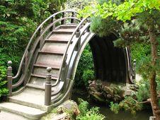 Free Japanese Arched Bridge Royalty Free Stock Photos - 86689038