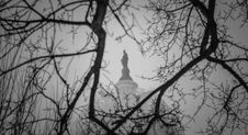 Free US Capitol S Statue Of Freedom During Blizzard Royalty Free Stock Photography - 86689657