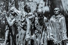 Free Burghers Of Calais Royalty Free Stock Photography - 86691887