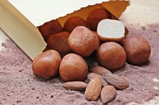 Free Brown Peanut And Potatoes From Brown Paper Bag Stock Image - 86695101