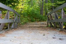 Free Bridge In Forest Royalty Free Stock Photography - 86697247