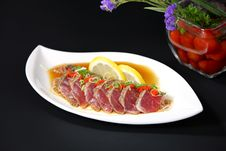 Tuna Grilled With Pepper Royalty Free Stock Images