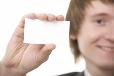 Free Businessman Show Business Card Royalty Free Stock Image - 8670976