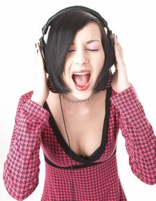 Free Emo Girl In Head Phones Royalty Free Stock Image - 8670996