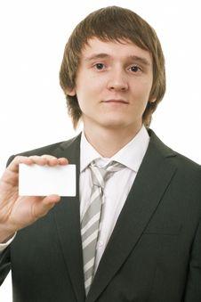 Free Businessman Show Business Card Stock Photos - 8671083