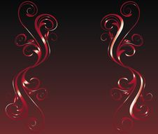 Free Red Floral Frame Stock Photos - 8671413