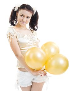 Free Girl With Balloons Stock Photos - 8672423