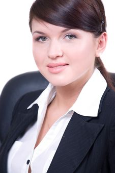 Free Young Beautiful Woman In Office Environment Stock Images - 8672524