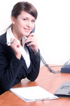 Free Young Beautiful Woman In Office Environment Stock Photo - 8672580