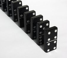 Free Dominoes With White Background Royalty Free Stock Images - 8672929