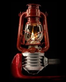 Free Kerosene Lamp Royalty Free Stock Photography - 8673617