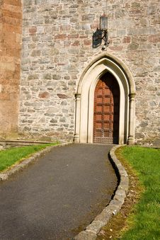 Free Path To Church Door Stock Photos - 8673913