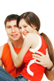 Free Young Couple Over White Royalty Free Stock Images - 8674339