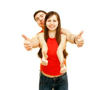 Free Young Couple Over White Royalty Free Stock Photo - 8674345