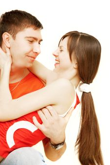 Free Young Couple Over White Royalty Free Stock Photo - 8674575