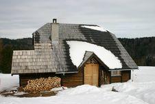 Serbian Mountain Ski House Stock Image