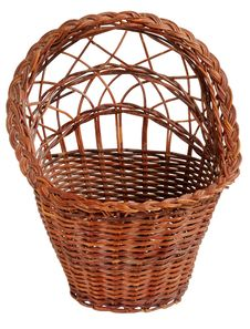 Free Old Vintage Wicker Basket. Royalty Free Stock Images - 8676159