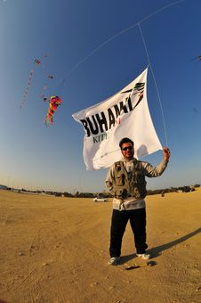 Buhamad Kites Team Royalty Free Stock Photos