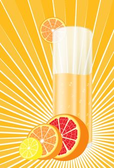 Citrus  Juice Royalty Free Stock Photo