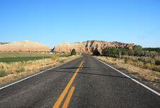 Free Road Through Central Utah Royalty Free Stock Photos - 8677598