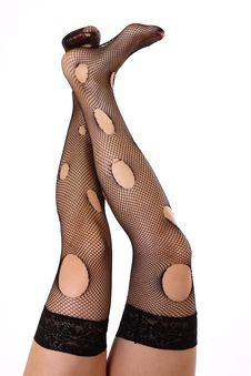 Free Woman S Legs In Stockings Royalty Free Stock Image - 8677746