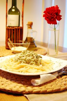 Pasta With Broccoli Royalty Free Stock Photos
