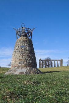 Democracy Cairn, Calton Hill, Edinburgh Royalty Free Stock Photography