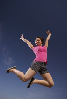 Free Jumping For Joy Royalty Free Stock Image - 8678856