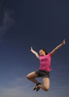 Free Teen Leaping Into Air Stock Photography - 8678862