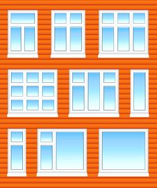 Free Plastic Windows In Color Royalty Free Stock Photos - 8679508