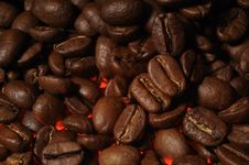 Hot Coffee Beans Royalty Free Stock Photography