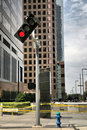 Free Traffic Light Stuck On Red Bent Stock Photos - 8681373