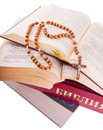 Free Open Bible And Rosary Royalty Free Stock Image - 8687016