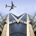 Free Airplane And The Modern Building Stock Photo - 8688450