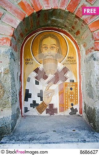 Fresco at the wall Stock Photo