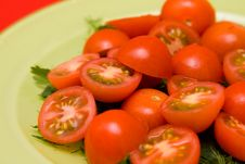 Free Healthy Salad On The Plate Royalty Free Stock Photo - 8680015