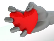 Heart In Hand Royalty Free Stock Photo