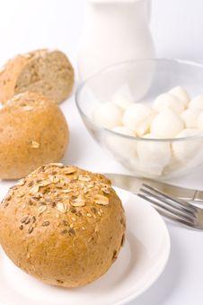 Free Bread, Milk And Mozzarella Royalty Free Stock Images - 8681469